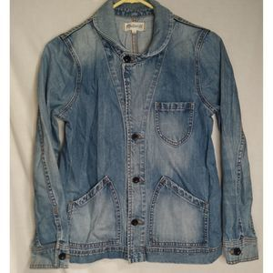 Madewell Lightwash Tailored Style Denim Jacket